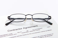 Accordo di Contactor's Fotografie Stock