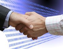 Accordo di Digitahi Immagine Stock