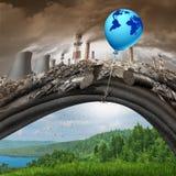 Accordo globale del mutamento climatico Fotografia Stock Libera da Diritti