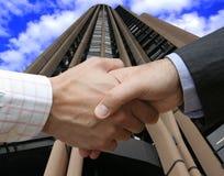 Accordo positivo di affari Fotografie Stock Libere da Diritti