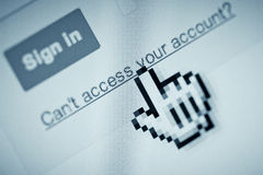 Account access denied Stock Photography