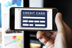 Account ATM Card Bank Finance Concept Royalty Free Stock Photography