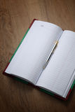 Account book behind business success. Important stock photos