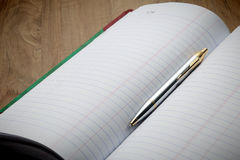 Account book behind business success. Royalty Free Stock Photos
