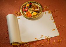 Account book. An book which is used for accounting on the occasion of a Diwali. It is symbolic way to start new accounts or business Royalty Free Stock Photography