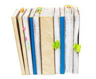Account books. On a white background vertically Stock Photography