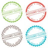 Account closed badge isolated on white background. Royalty Free Stock Photo