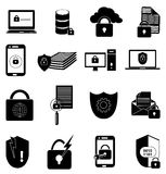 Account data protection icons set Royalty Free Stock Photos