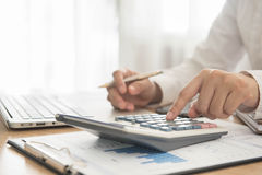 Account and finance Stock Image
