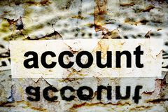 Account grunge concept Royalty Free Stock Image