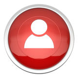 Account icon. A large red blog icon in three d Royalty Free Stock Photos