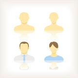 Account icons of men and women Stock Image