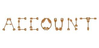 Account keys Royalty Free Stock Image