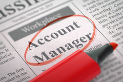 Account Manager Join Our Team. Royalty Free Stock Photography