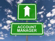 Account manager road sign Stock Images
