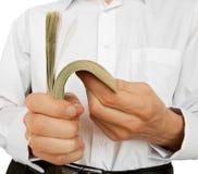 Account of money in hands Stock Photo