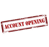 Account opening Royalty Free Stock Images