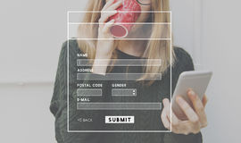 Account Profile Online Submit Concept Royalty Free Stock Photos