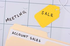Account sales folder Royalty Free Stock Photo