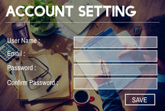 Account Setting Registration Password Log In Privacy Concept.  Stock Image