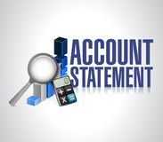 Account statement business background Stock Photos