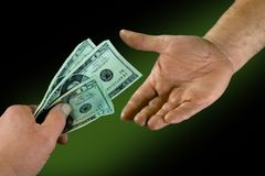 Account transaction. Composite photo stock photo