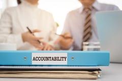 accountability imagem de stock