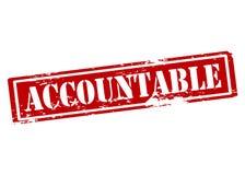 accountable ilustração do vetor