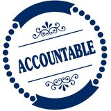 ACCOUNTABLE blue seal. Illustration graphic concept image royalty free illustration