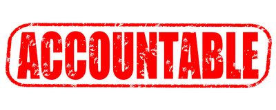 Accountable stamp on white background royalty free illustration