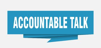 Accountable talk. Sign.  paper origami speech bubble.  tag.  banner royalty free illustration