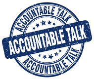 Accountable talk blue stamp. Accountable talk blue grunge stamp vector illustration