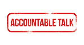 Accountable talk - red grunge rubber, stamp stock illustration