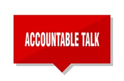 Accountable talk price tag. Accountable talk red square price tag stock illustration