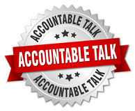 Accountable talk badge Stock Images
