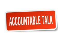 Accountable talk sticker. Accountable talk square sticker isolated on white background. accountable talk royalty free illustration