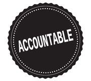 ACCOUNTABLE text, on black sticker stamp. stock illustration