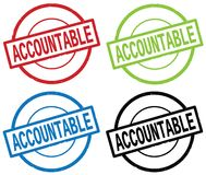 ACCOUNTABLE text, on round simple stamp sign. royalty free illustration
