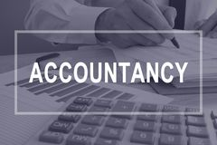 Accountancy concept. Accountant working with report. Accountancy concept. Accountant is working with report stock photos