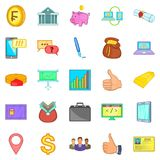 Accountancy icons set, cartoon style. Accountancy icons set. Cartoon set of 25 accountancy icons for web isolated on white background Royalty Free Stock Photography