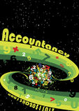 Accountancy space. Abstract vector illustration Royalty Free Stock Photo