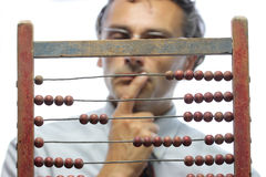 Accountant with abacus Stock Photos