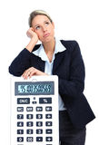 Accountant business woman Royalty Free Stock Image