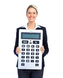 Accountant business woman Stock Image