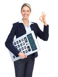 Accountant business woman Royalty Free Stock Photos