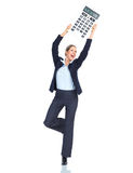 Accountant business woman Royalty Free Stock Images