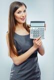 Accountant business woman portrait. Stock Image