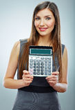 Accountant business woman portrait. Royalty Free Stock Photo