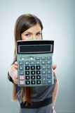 Accountant business woman portrait. Royalty Free Stock Photography