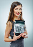 Accountant business woman portrait. Stock Photography
